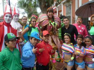 Ernesto Pimentel , Leslie Moscoso , Lady Guillén, Circo de la Chola Chabuca, Fiestas Patrias, 12 años