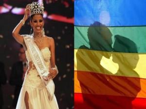 Cindy Mejía , Miss Perú Universo 2012 , Miss Perú , Movimiento Homosexual de Lima , MHOL , La Moche es Mía , Carlos Carlín
