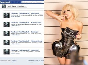 Lady Gaga , Facebook , Estadio Nacional de Lima , Conciertos en Lima