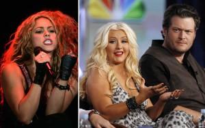 Música, Televisión, The Voice, Shakira, Christina Aguilera, Adam Levine, Usher, Blake Shelton, Televisión