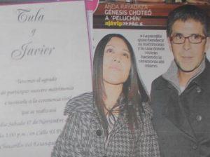 Tula Rodríguez , Javier Carmona , Matrimonio , Diario Ajá