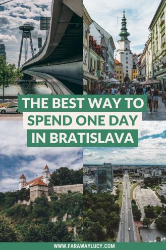 The Best Way to Spend One Day in Bratislava [Itinerary]. Bratislava in One Day. Bratislava in 1 day. 1 day in Bratislava. Bratislava Slovakia photography. Bratislava photography. What to do in Bratislava. What to see in Bratislava. Things to do in Bratislava. Things to see in Bratislava. Places to visit in Bratislava. Click through to read more...