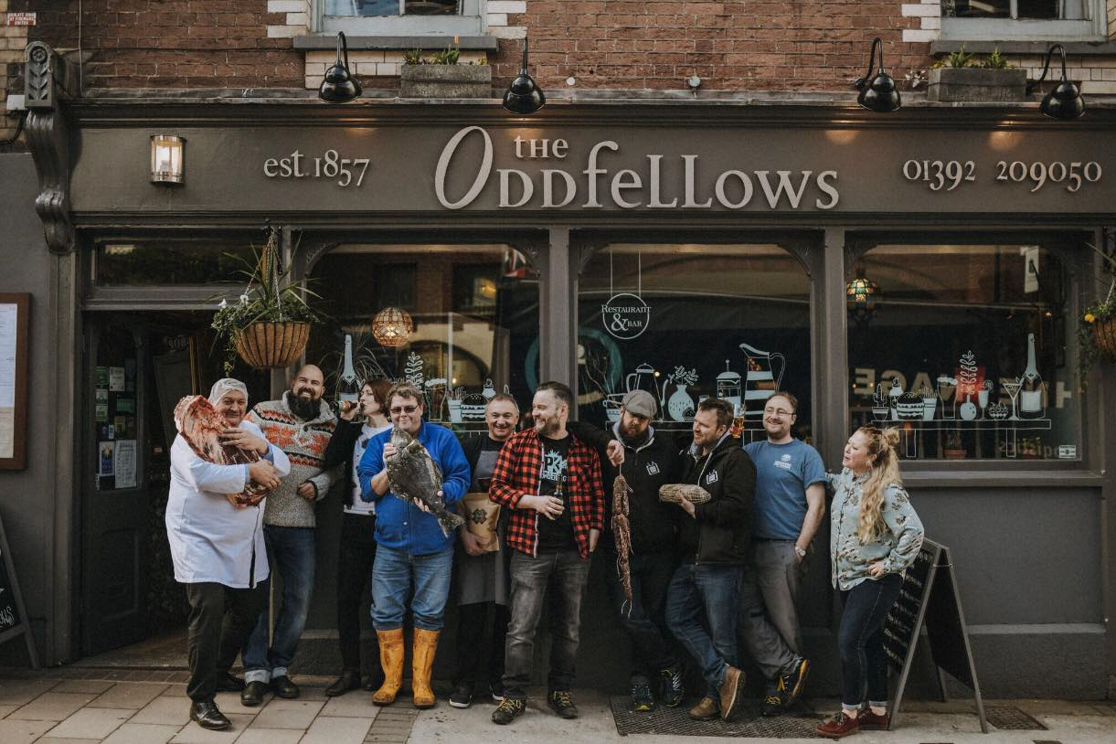 The Oddfellows team quirky pub Exeter Restaurants
