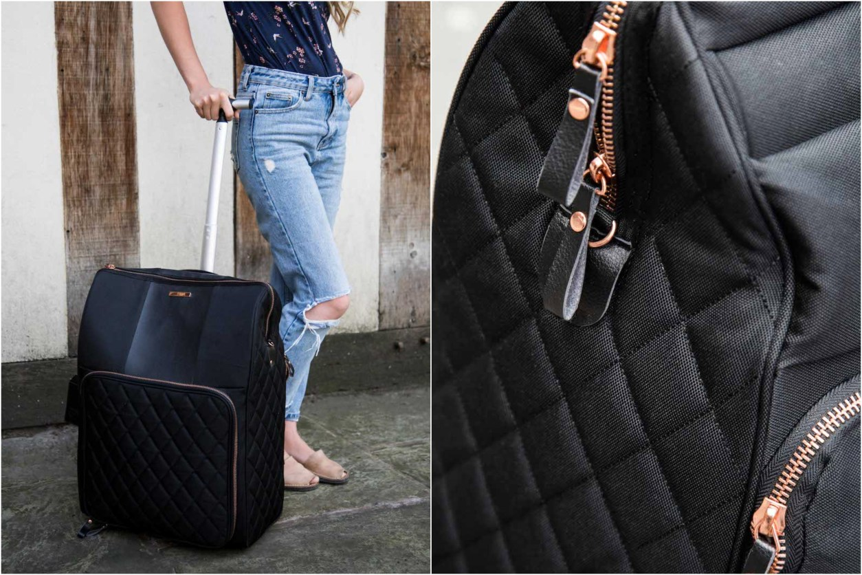 The Travel Hack Cabin Luggage cabin suitcase black and rose gold suitcase beautiful modern suitcase 15 Romantic Travel Gift Ideas for Valentine's Day