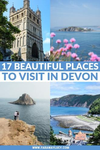 17 Beautiful Places to Visit in Devon for a Great Day Out. Devon England. Devon UK. Things to do in Devon. Places to see in Devon. What to see in Devon. Things to see in Devon. What to do in Devon. Devon attractions. Devon top attractions. Devon travel blog. Devon travel guide. The English Riviera. Exeter. Plymouth. Dartmouth. Dartmoor National Park. Exmoor National Park. Salcombe. Clovelly. Totnes. Appledore. Watermouth. Croyde. Woolacombe. Dartmouth. Ilfracombe. Beer. Burgh Island. Lundy Island. Click through to read more...