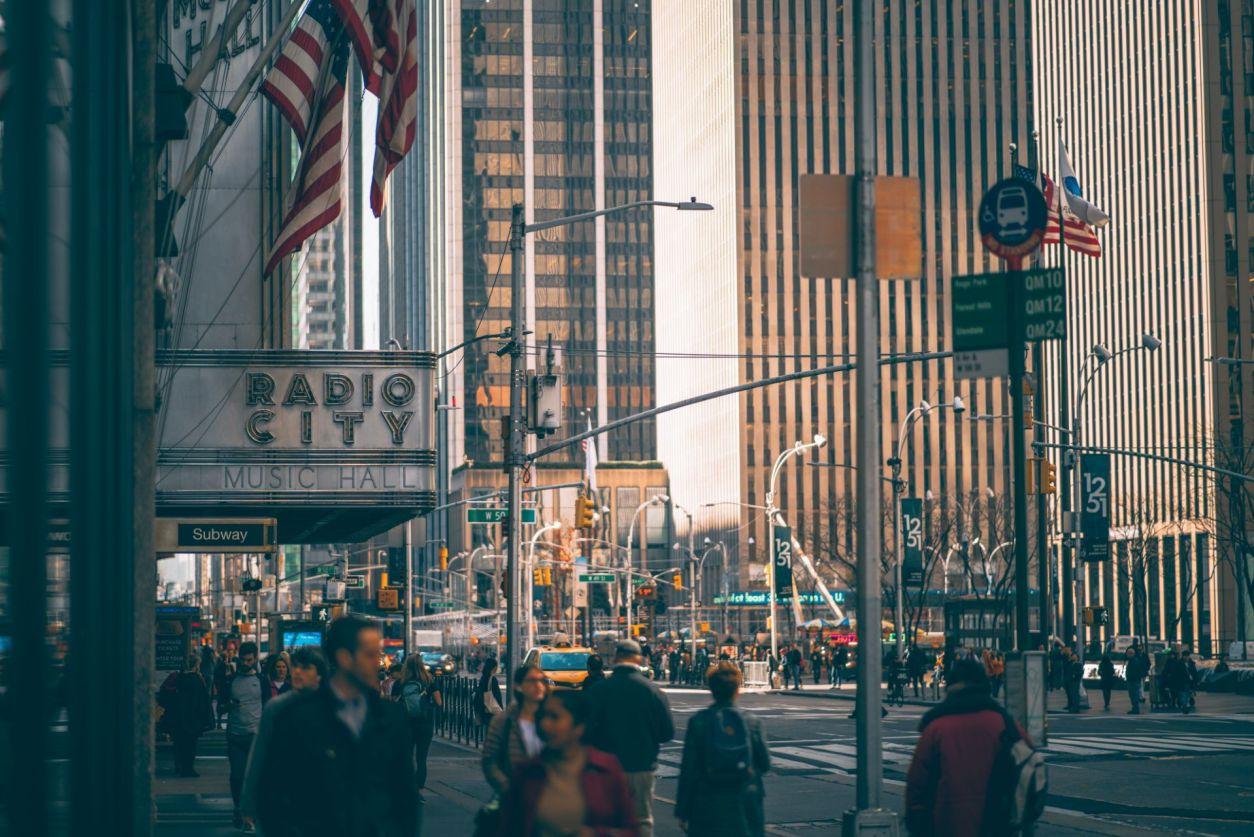 pedestrians-walking-in-new-york-city-by-radio-city-music-hall