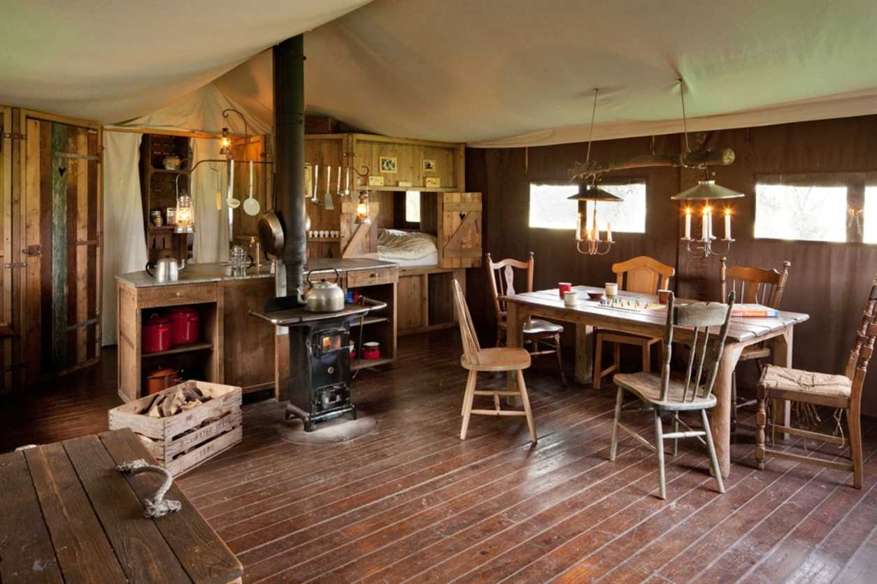 inside-of-a-rustic-safari-tent-chesters-feather-down-scottish-borders