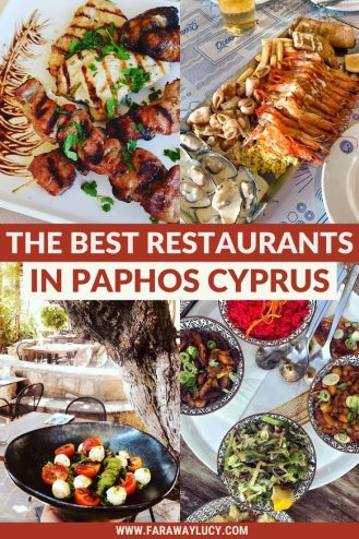 The Best Restaurants in Paphos Cyprus That You Will Love. There are so many things to do in Paphos Cyprus but one of the best is try out all of the amazing restaurants Paphos Cyprus has to offer! From traditional Greek food to fresh seafood to family favourites, click through to discover Paphos' best eateries...