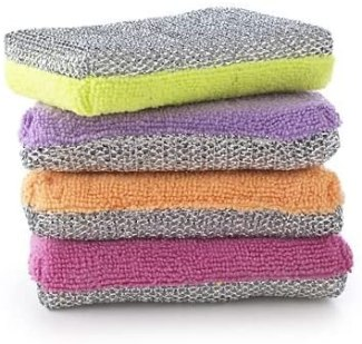 lakeland-dual-action-microfibre-cleaning-sponge-and-scourer-pads-pack-of-4