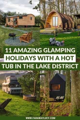 11 Amazing Glamping Holidays with a Hot Tub in the Lake District. Fancy going glamping in the Lake District? You'll love these cosy cabins, shepherd's huts, converted buses and wagons. Click through to read more...