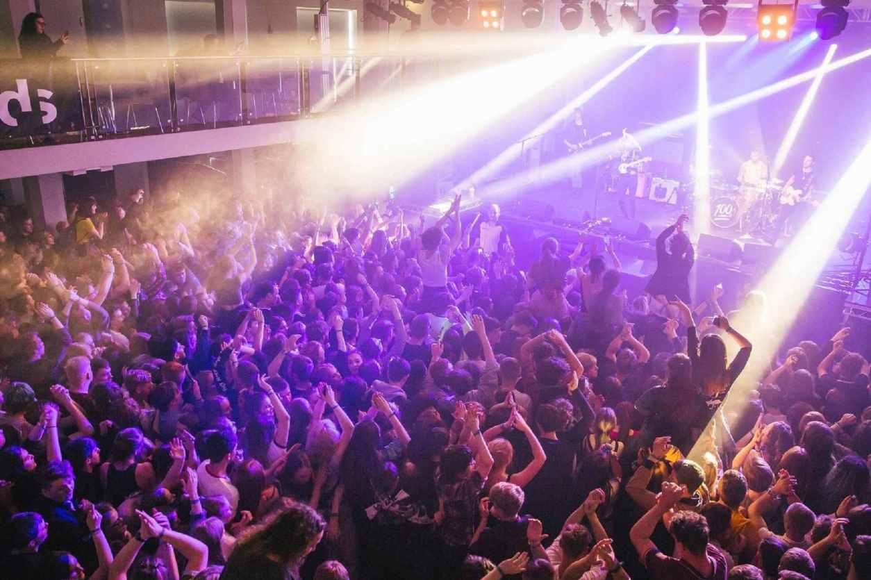 crowd-at-a-gig-watching-band-at-brudenell-social-club