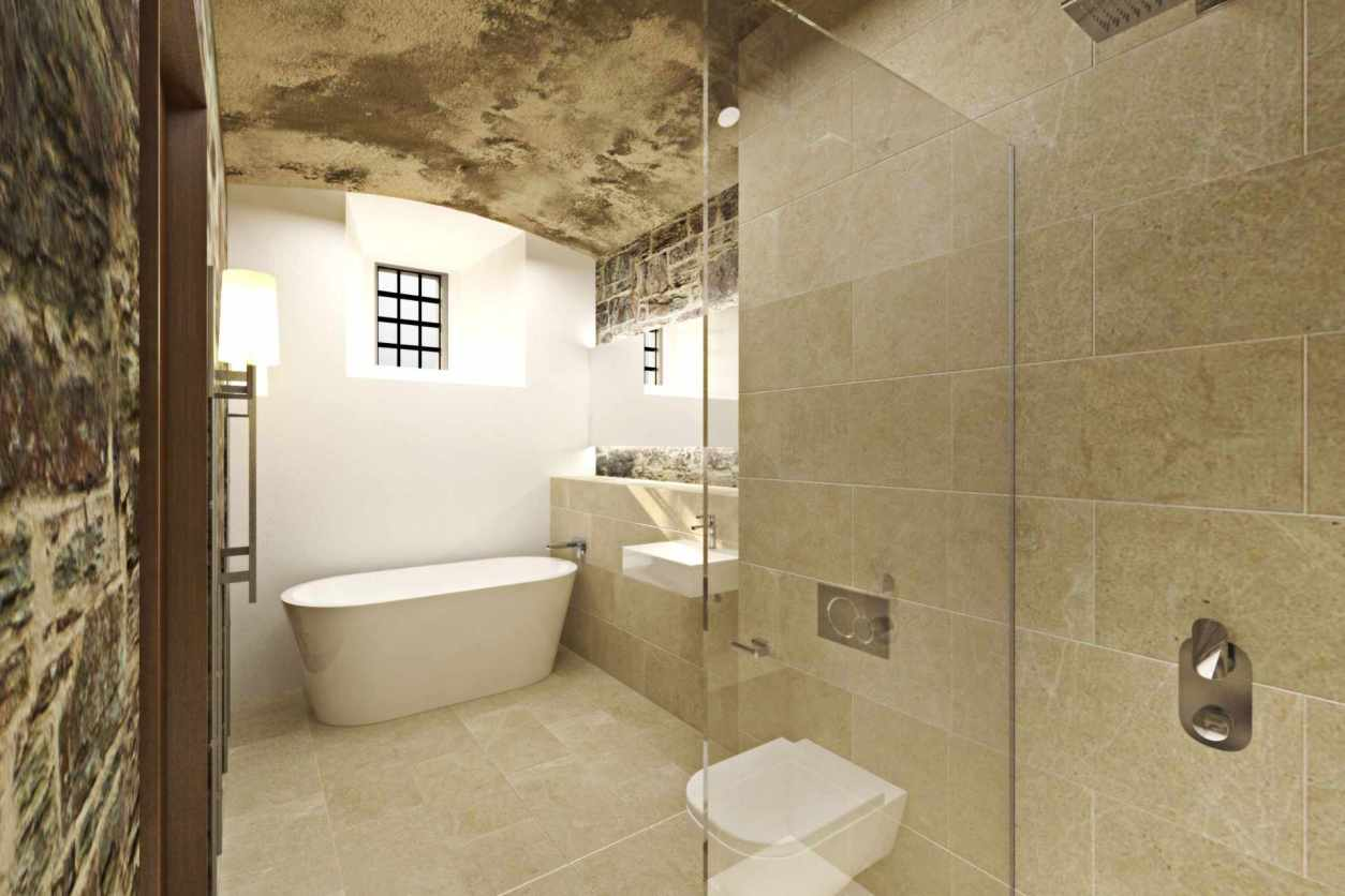 modern-bathroom-with-bathtub-at-bodmin-jail-hotel-things-to-do-in-cornwall-in-winter