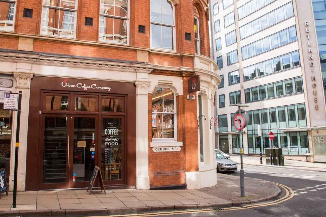 urban-coffee-company-on-church-street-corner-in-a-city-centre-in-daytime