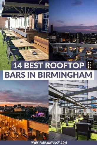 The 14 Best Rooftop Bars in Birmingham with Amazing Views [2021]. From fancy rooftop bars to relaxed roof terraces to rooftop festivals, you'll love these rooftop bars in Birmingham! Click through to read more...