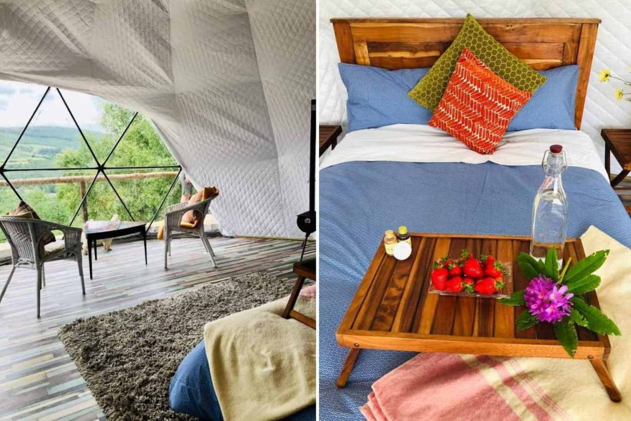 bed-and-seating-area-inside-luxury-geodome