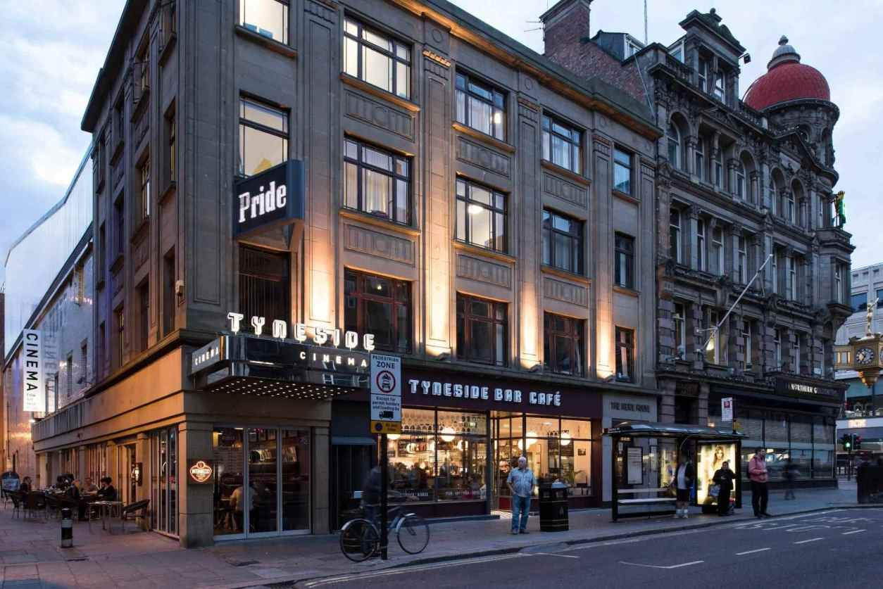 exterior-of-tyneside-cinema-in-evening-indoor-activities-newcastle