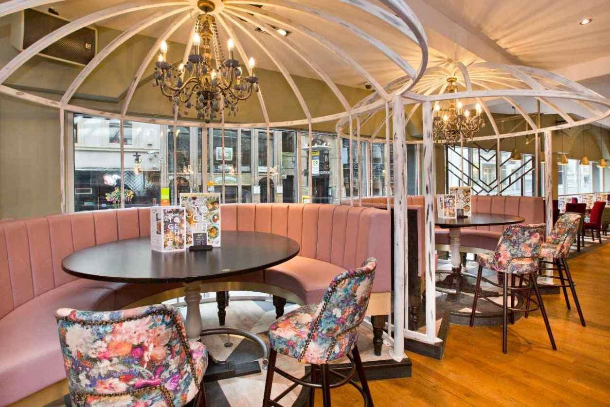 pastel-pink-floral-booths-at-slug-and-lettuce-bar-best-cocktail-bars-liverpool