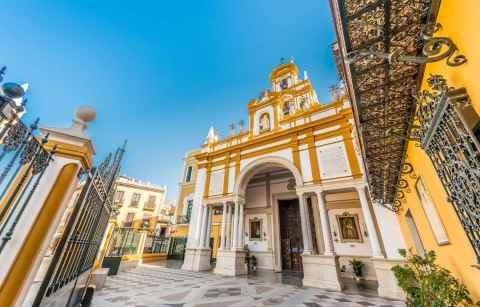 yellow-and-white-exterior-of-basílica-de-la-macarena-4-days-in-seville-itinerary