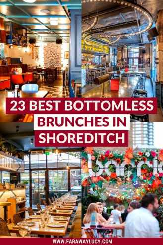 Bottomless Brunch Shoreditch: 23 Best Brunches You Need to Try. From brunch with ping pong and ball pits, to brunch with live music, here are the 23 best places to have bottomless brunch in Shoreditch. Click through to read more...