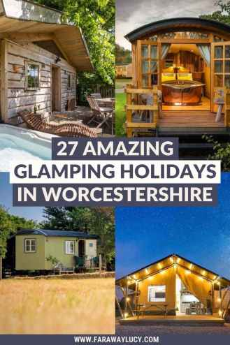 Glamping Worcestershire: 27 Amazing Places You Need to Stay At. From treehouses and shepherds huts to geodomes and safari tents, you'll love these Worcestershire glamping holidays. Click through to read more...