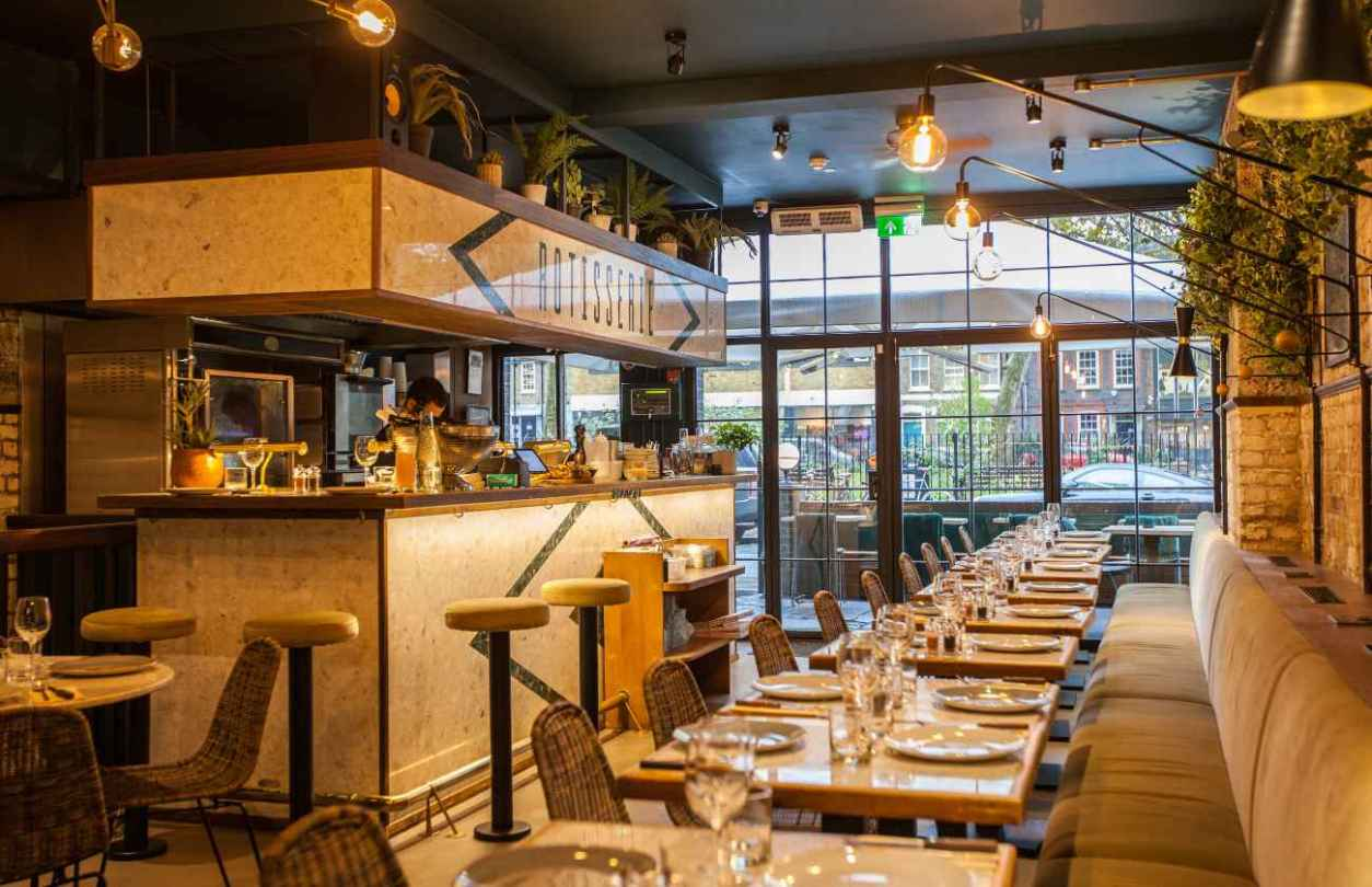 interior-of-cocotte-restaurant-and-bar-bottomless-brunch-shoreditch
