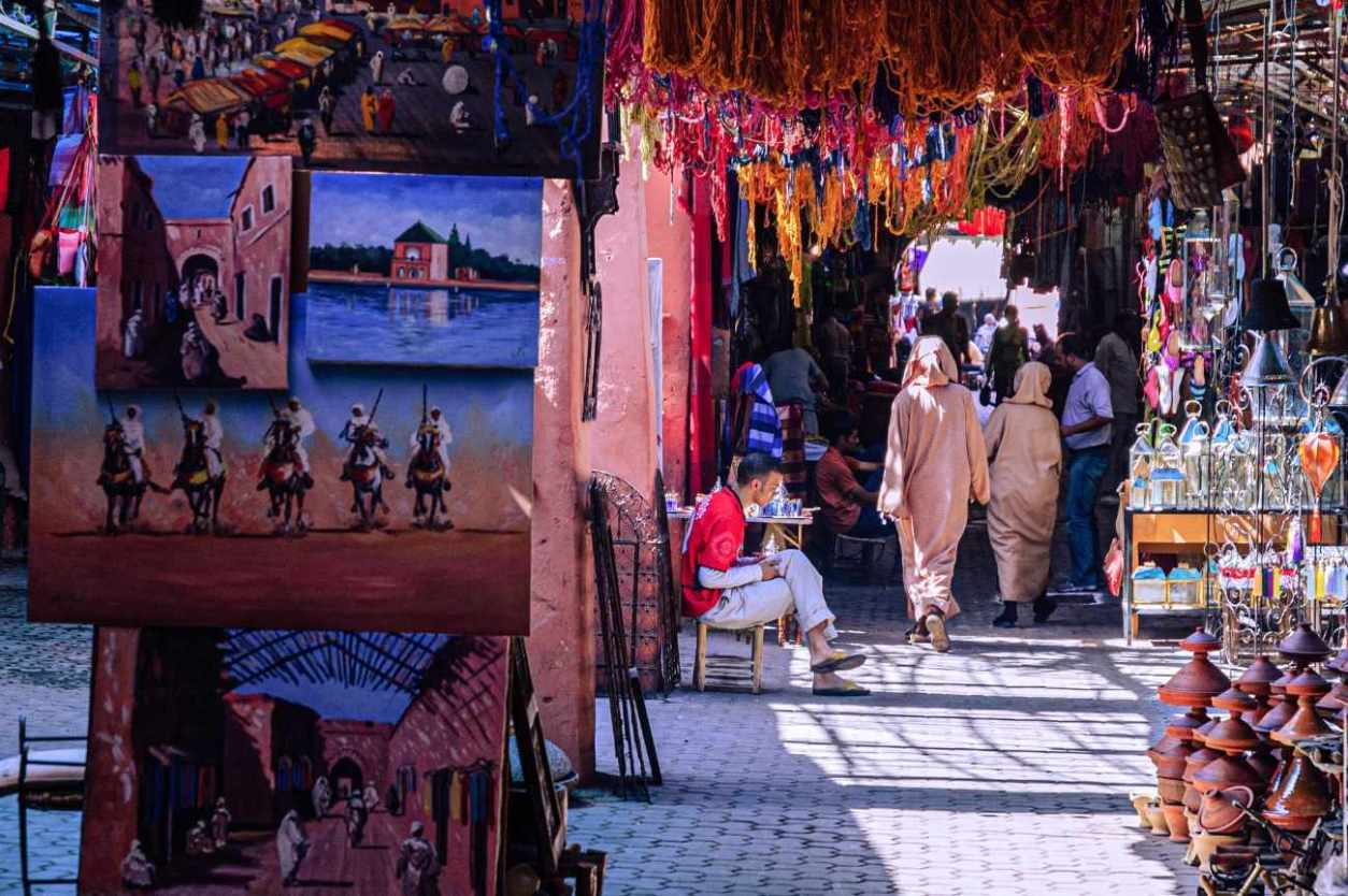 people-walking-around-market-stalls