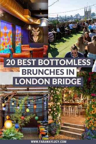 Bottomless Brunch London Bridge: 20 Brunches You Need to Try [2021]. From rooftop brunches with amazing views to brunch with live music, here are the 20 best places to go for bottomless brunch in London Bridge! Click through to read more...