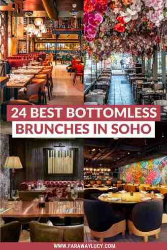 Bottomless Brunch Soho: 24 Best Brunches You Need to Try [2021]. From bingo brunches to karaoke brunches to Instagrammable brunches, here are the 24 best places to go for bottomless brunch in Soho! Click through to read more...