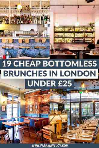Cheap Bottomless Brunch London: 19 Great Brunches Under £25 [2021]. This post rounds up all the best places to go for cheap bottomless brunch in London with prices starting from just £15 per person! Click through to read more...
