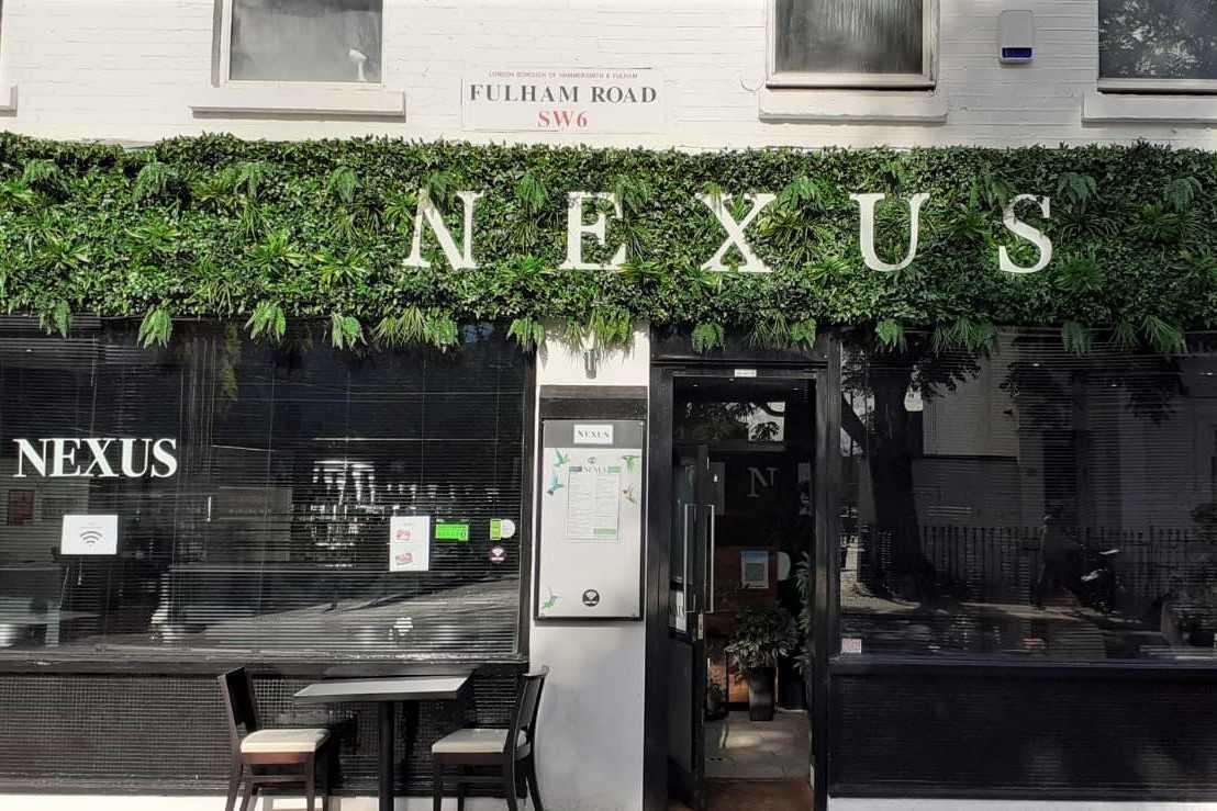 exterior-of-nexus-restaurant-on-fulham-road