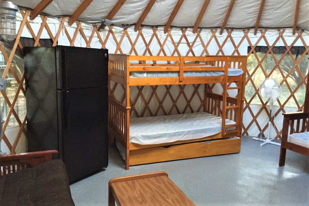 interior-of-abilene-state-park-yurt-with-bunk-bed