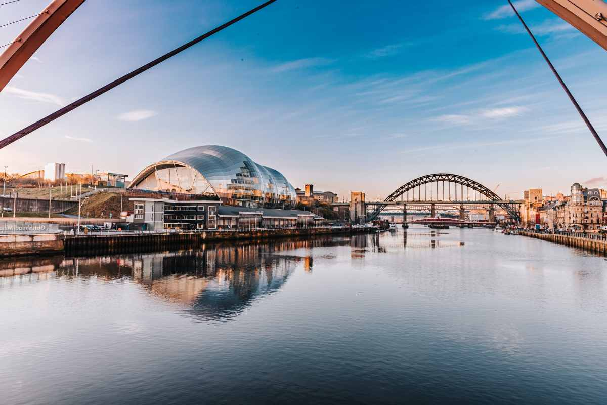 newcastle-quayside-with-bridge-at-sunsetnewcastle-quayside-with-bridge-at-sunset