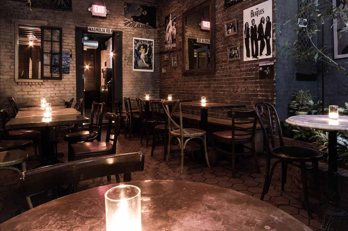 candles-on-tables-inside-bea-restaurant-bottomless-brunch-nyc