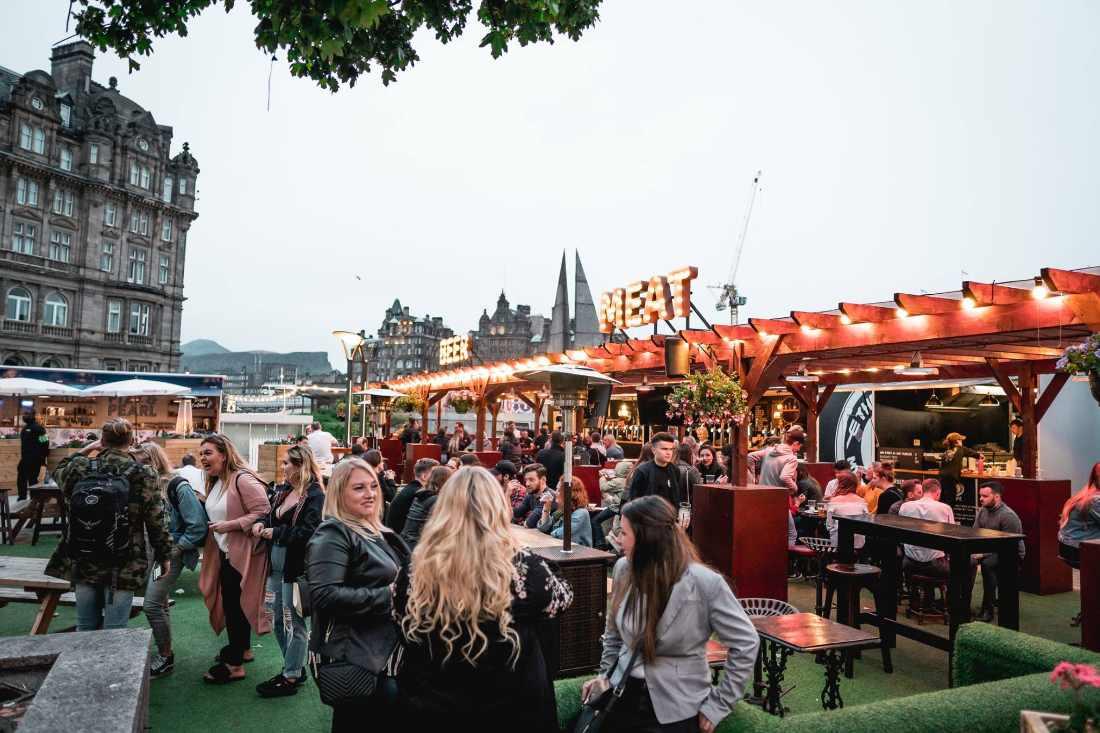 festival-village-on-waverley-mall-rooftop-bars-edinburgh