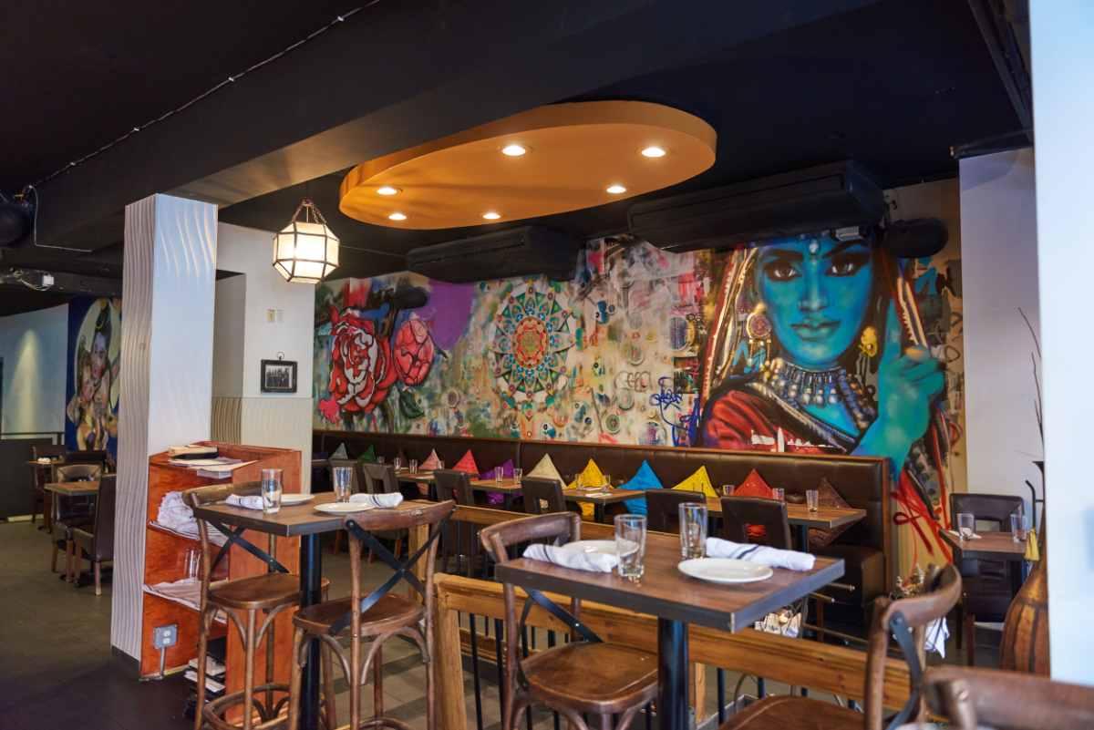 tables-and-graffiti-on-walls-inside-madam-ji-restaurant