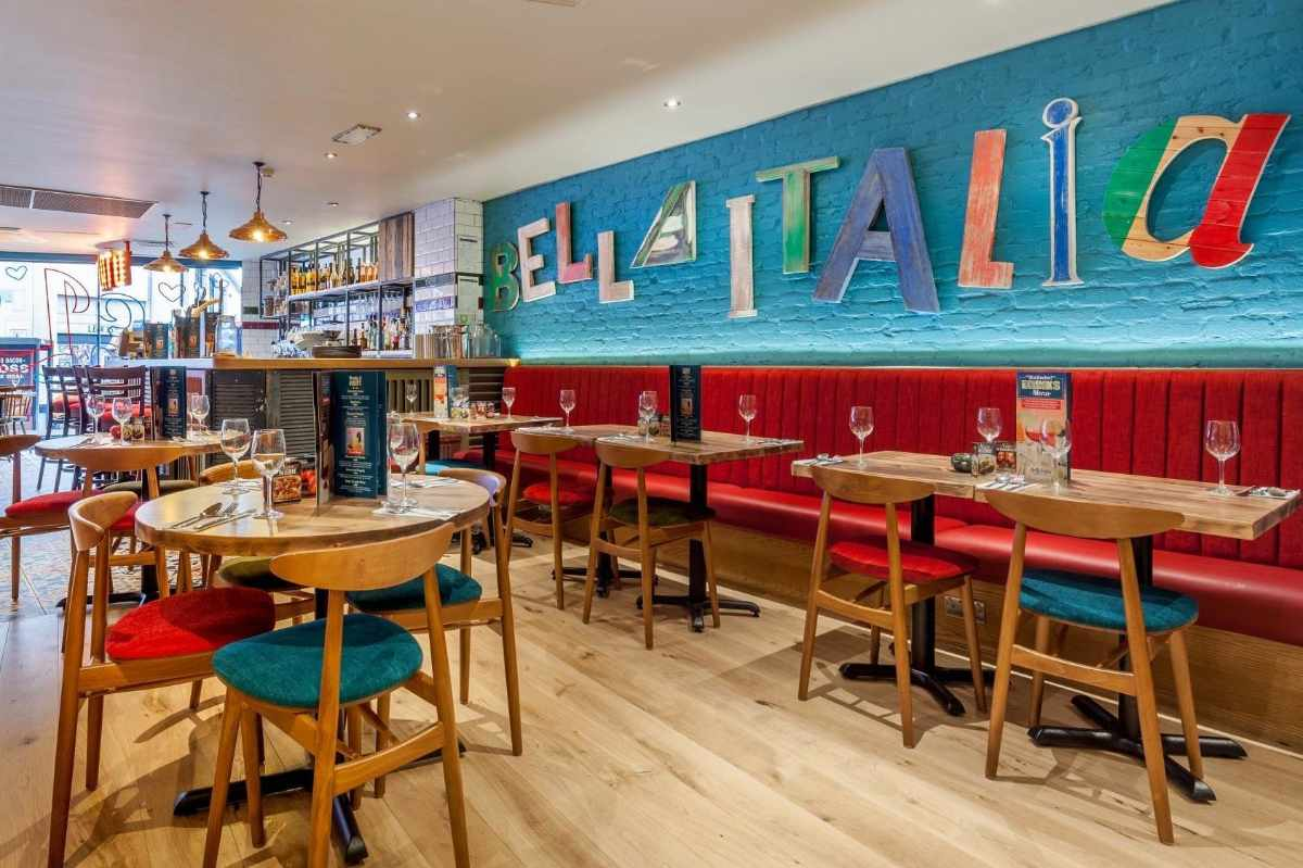 colourful-tables-and-seating-inside-bella-italia-restaurant