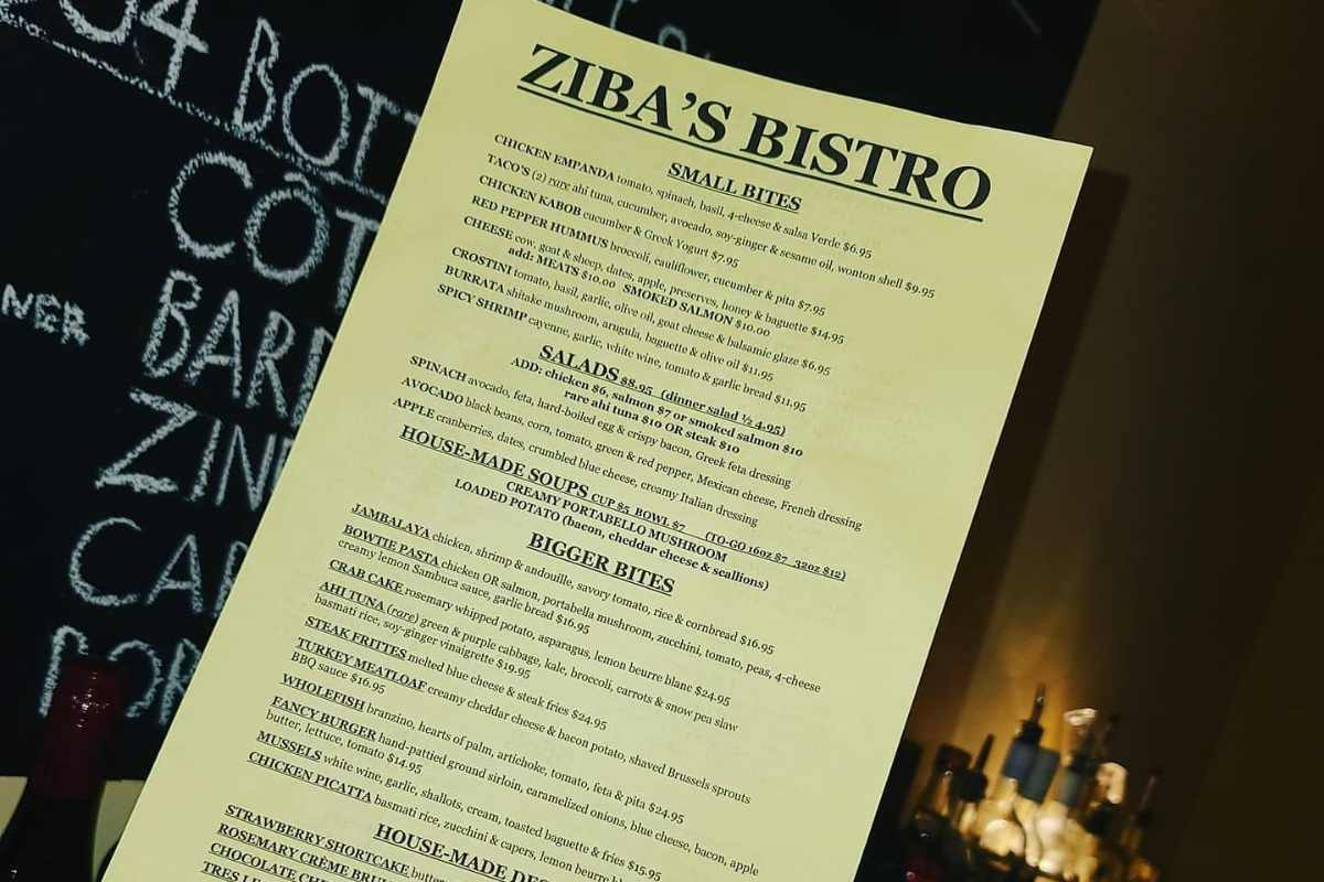 zibas-bistro-menu-inside-restaurant-at-night