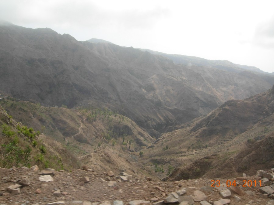 view from the bus Cape Verde-Santiago bus to Tarrafal