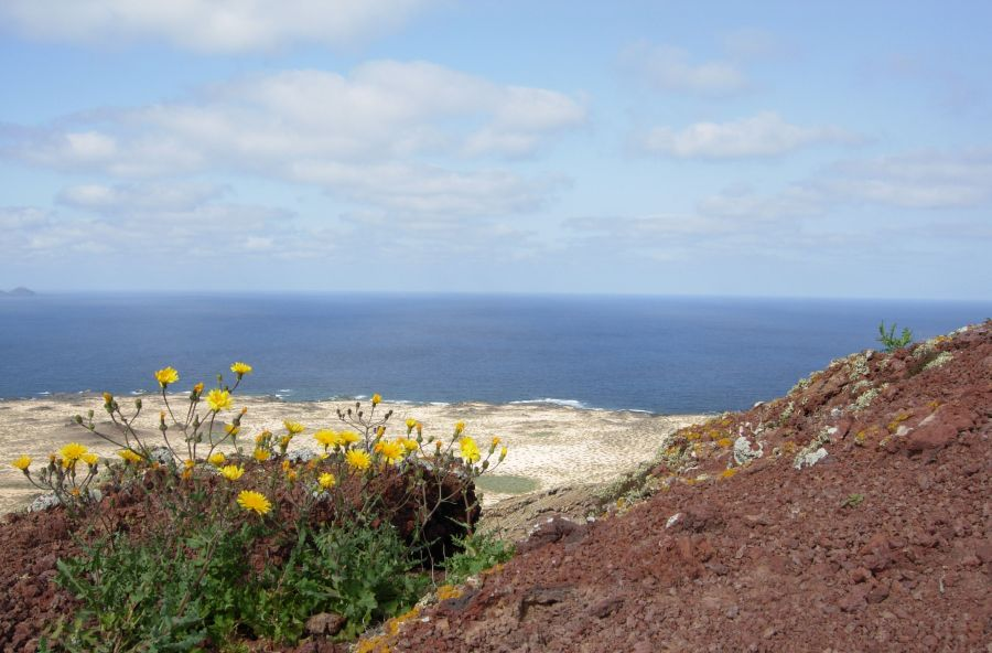 View from Scarlet Mountain La Graciosa