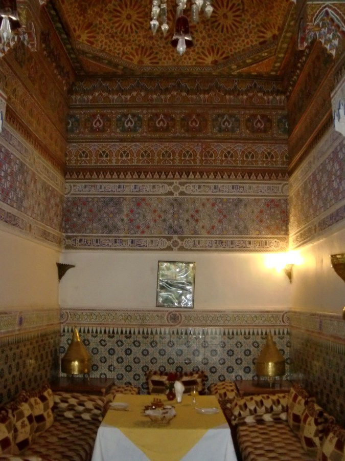 Dining room at Riad Hida