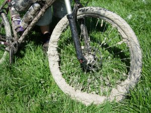 Muddy chalky wheel