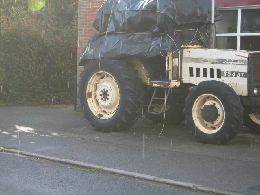 The scene of The kindness of strangers in england Lamborghini Tractor