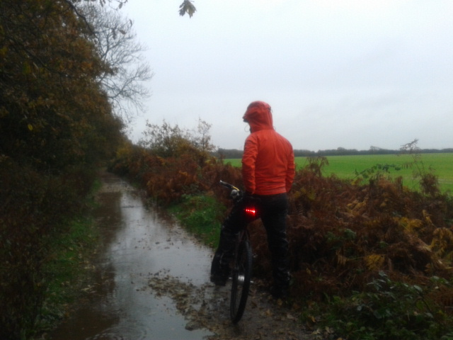 Is anything really waterproof when cycling Brownich farm estate