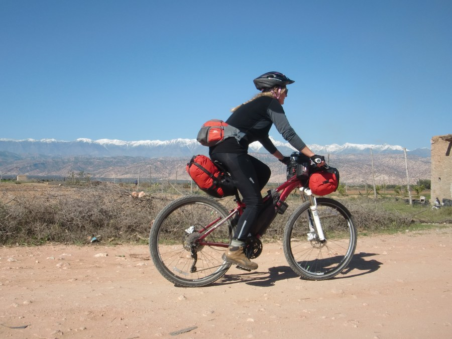 Cycling Morocco outskirts of Taroudant