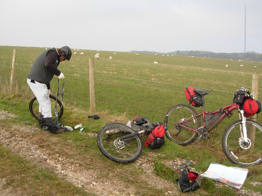 Puncture on the Isle of Wight