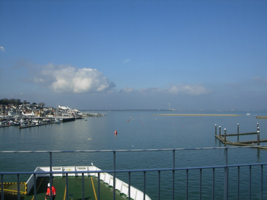 View from the Red Funnel Ferry at East Cowes