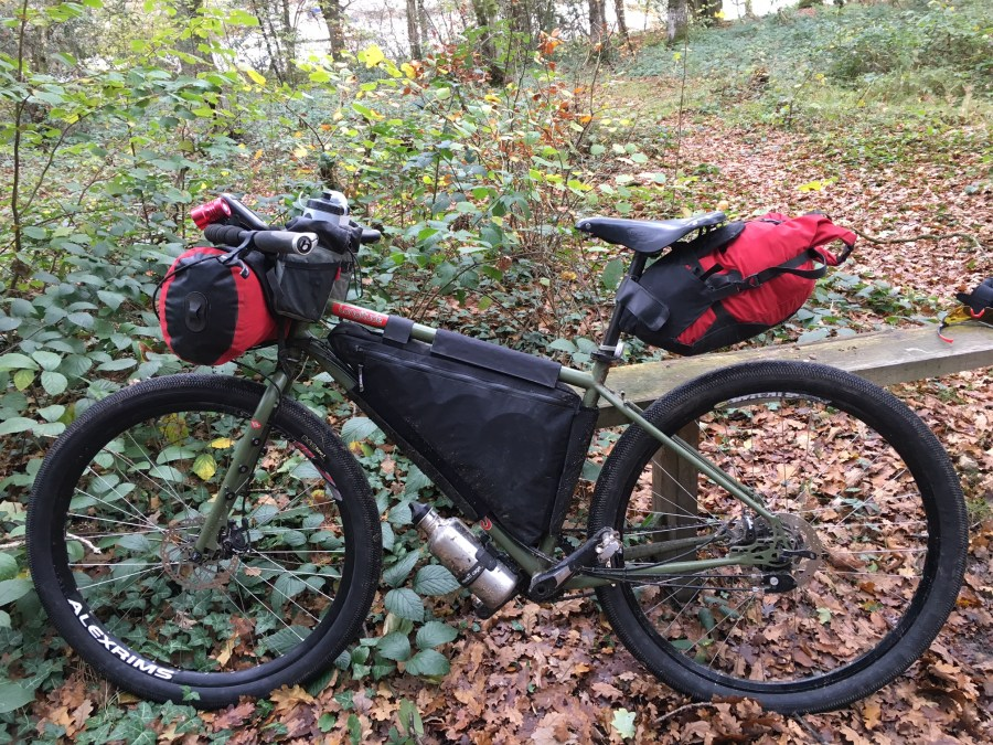 Genesis Longitude loaded for bikepacking