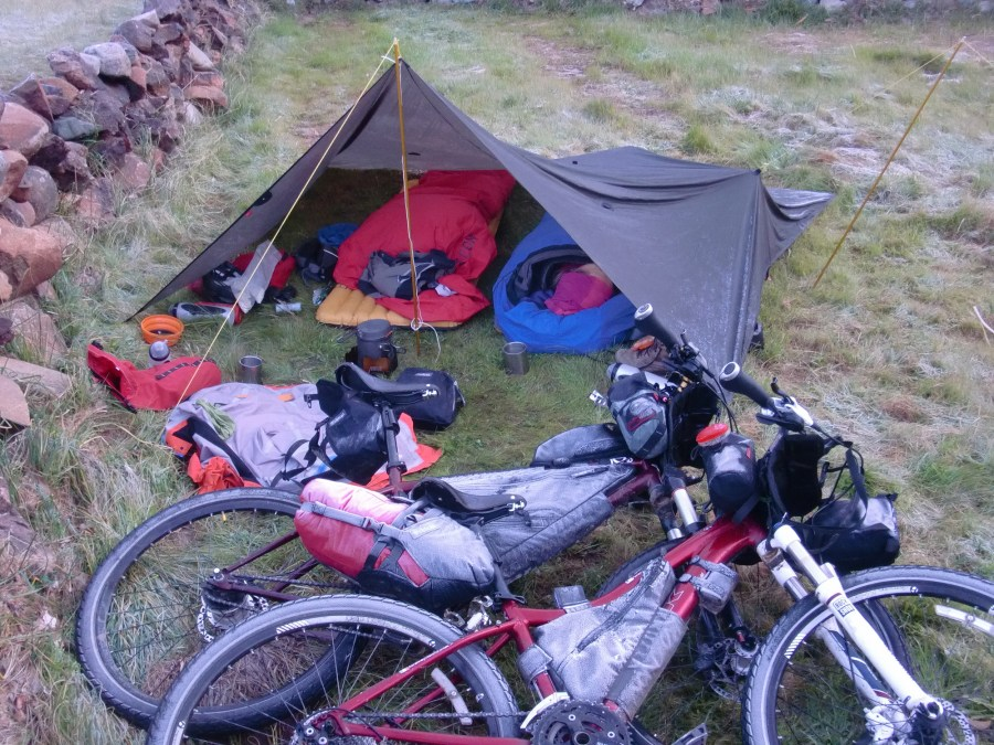 Alpkit Bivvy bag review bags used with a tarp in sub zero conditions