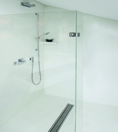 die fugenlose dusche trendig und chic farbefreudeleben. Black Bedroom Furniture Sets. Home Design Ideas