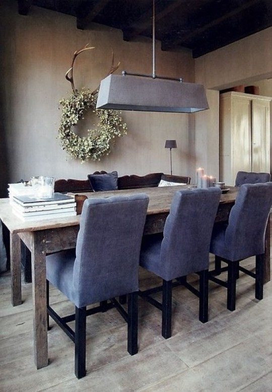 Esszimmer in Taupe-Blau Kombination (Foto: marie´s home)